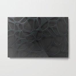 Black organic abstraction Metal Print