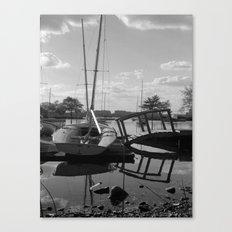 Lagoon and Boats Canvas Print