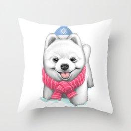 Winter Spitz Throw Pillow