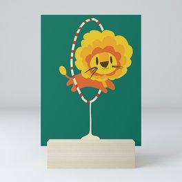 Lion hopped through a loop Mini Art Print