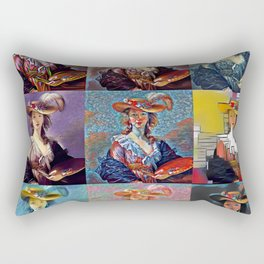 Portraits multiples Rectangular Pillow