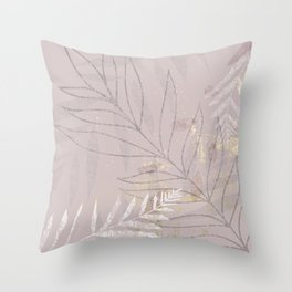 cacao gold tropic pattern Throw Pillow