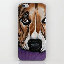 Dog, acrylic on canvas iPhone Skin