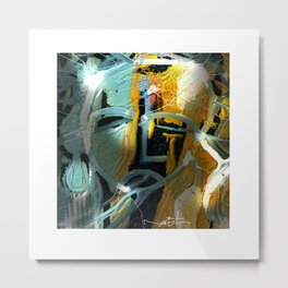 the synaptic gap Metal Print