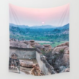 Sunset in the Lost World Wall Tapestry