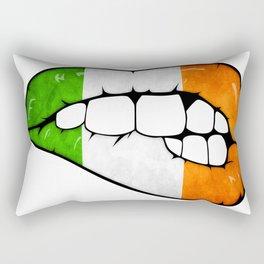 Irish lips Rectangular Pillow