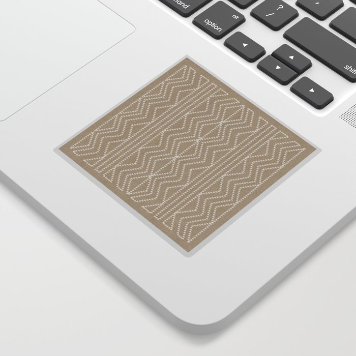 Cream Linen Beige Arrows Pattern Sticker