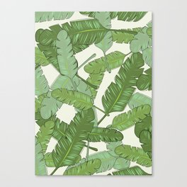 Banana Leaf Print Canvas Print