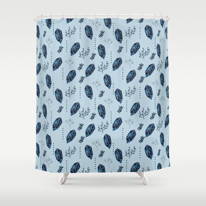 Abstract Pattern Design With Gem Stones Shower Curtain