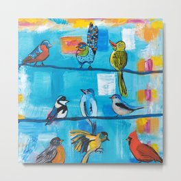 Bird Celebration Metal Print