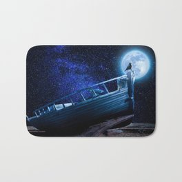 Moonlight Boat Old Bath Mat