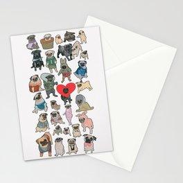 Pugs Stationery Cards