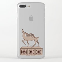 Halla statuatte grey Clear iPhone Case