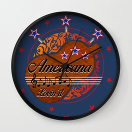 Americana - Lovin' it Wall Clock