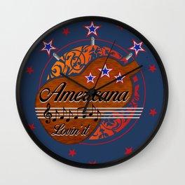 Americana - Lovin' it Wall Clock