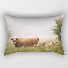Cattle Family Rectangular Pillow