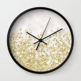 Golden ombre - soft pearl Wall Clock