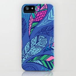 Feather Doodle iPhone Case