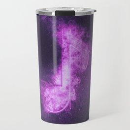 Eight music note symbol. Abstract night sky background Travel Mug
