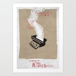 Screenwriter Art Print