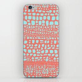 Orange crocodile iPhone Skin