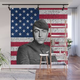 Eddie Rickenbacker And The American Flag Wall Mural