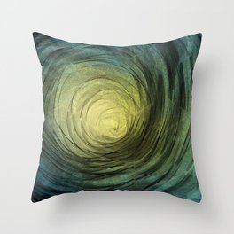 Ethereal Spiral Throw Pillow