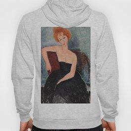 Redheaded Girl in Evening Dress by Amedeo Modigliani, 1918 Hoody