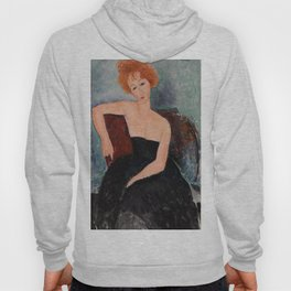 Redheaded Girl in Evening Dress by Amedeo Modigliani, 1918 Hoody