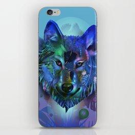 wolf tropical art decor iPhone Skin