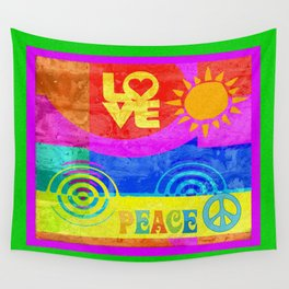 Love Peace Wall Tapestry