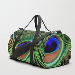 Peacock feathers | Plumes de Paon Duffle Bag