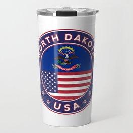 North Dakota, USA States, North Dakota t-shirt, North Dakota sticker, circle Travel Mug