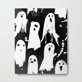 Ghost Splats Metal Print