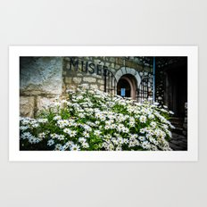 Museum & wild flowers - France Art Print