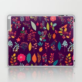 Autumn orange purple pink berries holly floral Laptop & iPad Skin