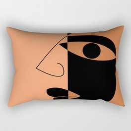 Abstract face Rectangular Pillow