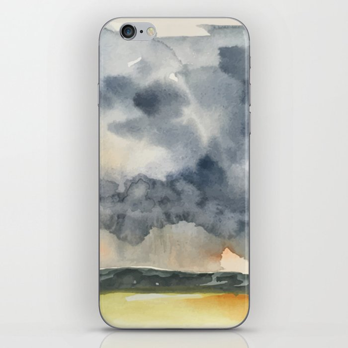 Deluge Watercolor Painting by Jeani Eismont iPhone Skin
