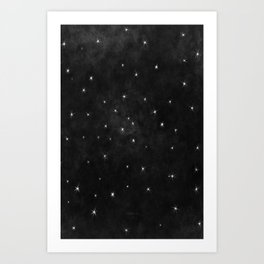Whispers in the Galaxy-B&W Art Print