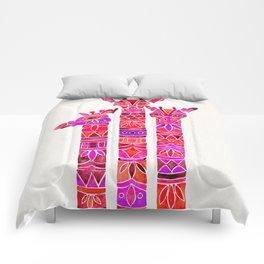 Giraffes – Magenta Ombré Comforters
