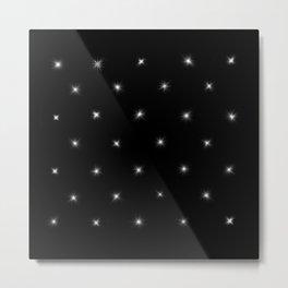 Diamond Stars Pattern Metal Print