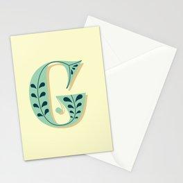 Alphabet Drop Caps Series- G Stationery Cards