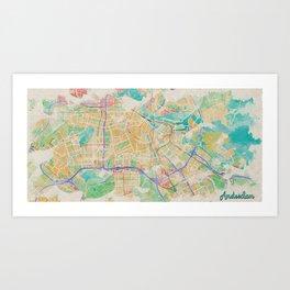 Amsterdam in Watercolor Art Print
