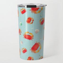 Red Crabs & Sea Shells Travel Mug