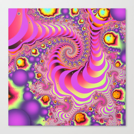 Colourful spiral motion, fractal abstract art Canvas Print