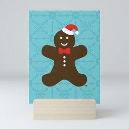 Christmas Gingerbread Man Mini Art Print
