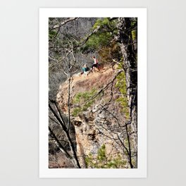 Climbing Up Sparrowhawk Mountain above the Illinois River, No. 4 of 8 Art Print
