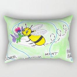 Plant Flowers Bees Like Rectangular Pillow