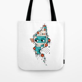 Muscle cat Tote Bag