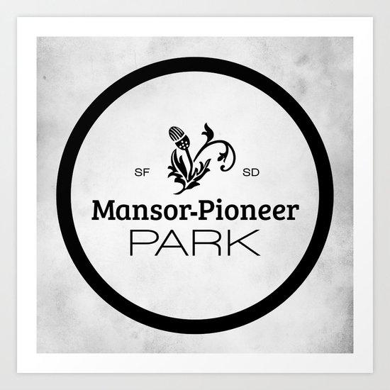 Mansor-Pioneer Park Art Print